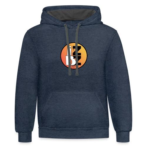 IZBZ Circle Logo - Unisex Contrast Hoodie