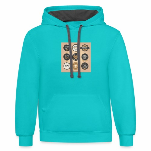 Mothers day - Unisex Contrast Hoodie