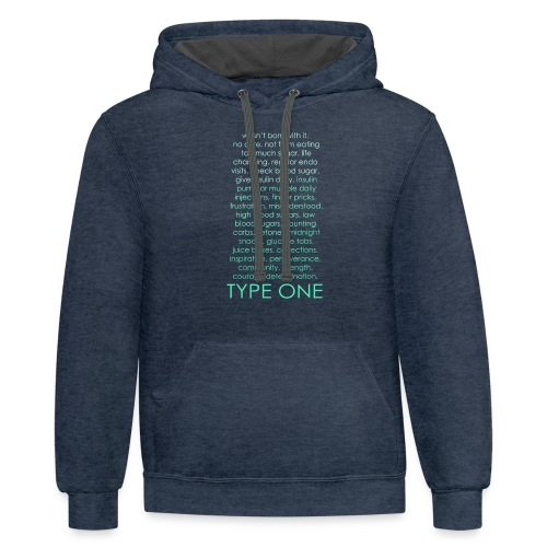 The Inspire Collection - Type One - Green - Contrast Hoodie