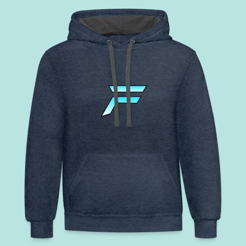 #furytfup Fade sharp logo - Unisex Contrast Hoodie