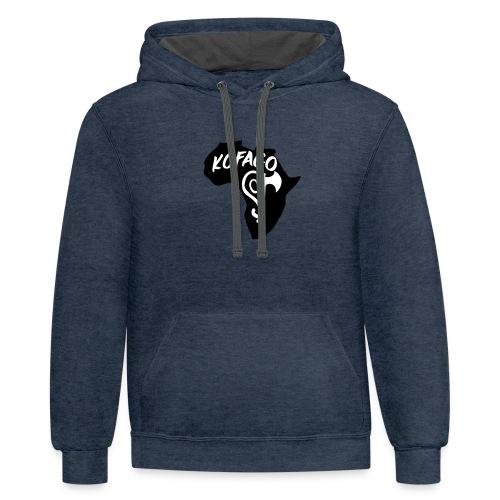 Kofago Logo - Unisex Contrast Hoodie