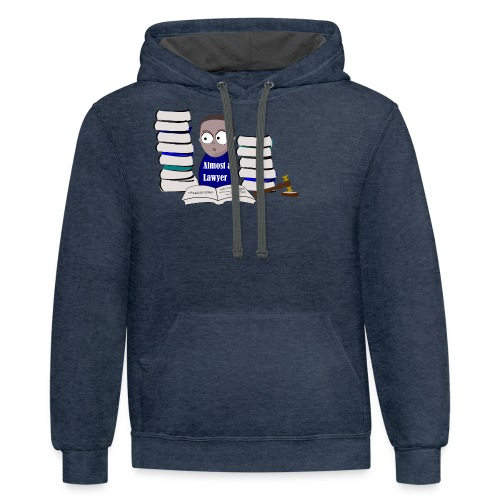 Almost a Lawyer Man African american - Contrast Hoodie