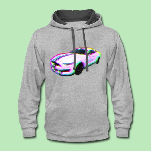 Mustang Glitch - Contrast Hoodie
