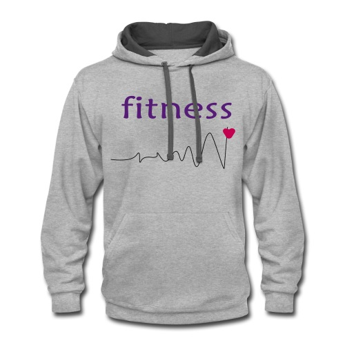 fitness 2 - Contrast Hoodie