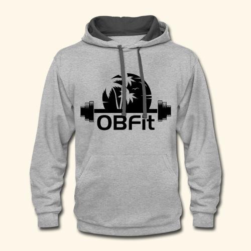 OB Fit Black - Contrast Hoodie