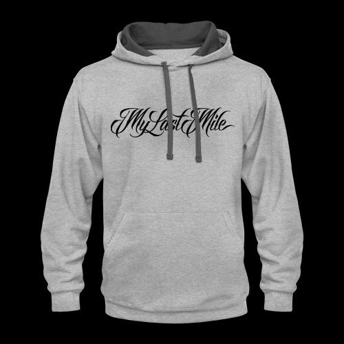 My Last Mile Merch - Black - Contrast Hoodie