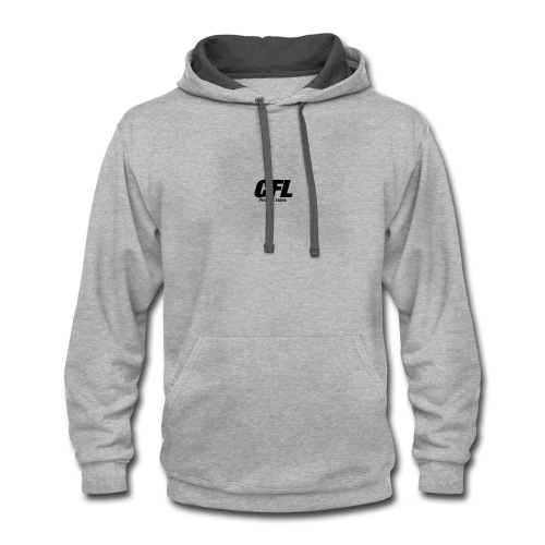 CFL Productions 2017 - Small logo size - Contrast Hoodie