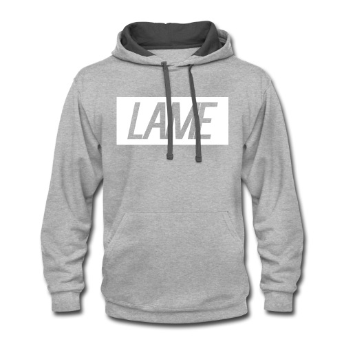 lame/ white rectangle - Contrast Hoodie