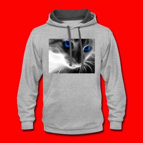 sly cat - Contrast Hoodie