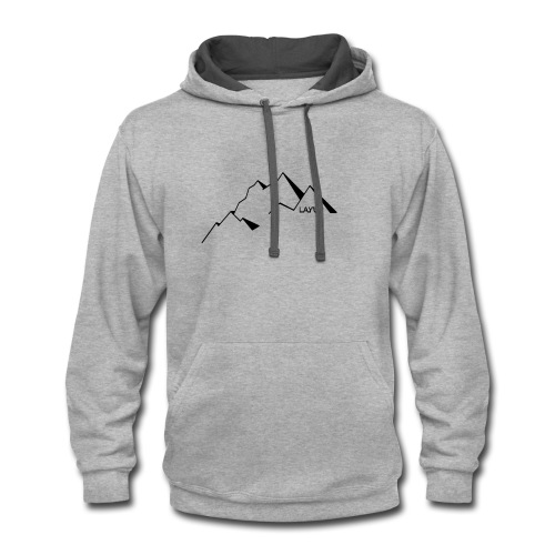 mountain1 - Contrast Hoodie