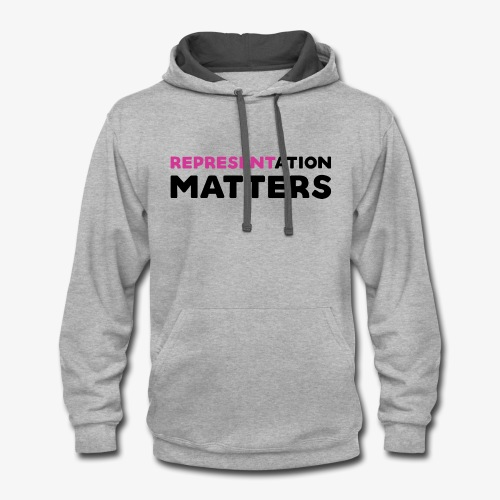 Representation Matters - Pink - Contrast Hoodie