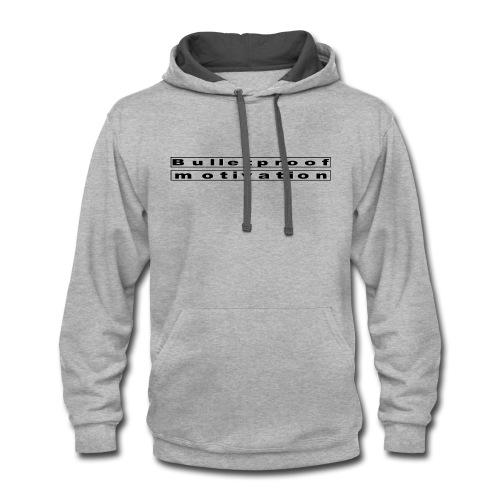 Bulletproof logo - Contrast Hoodie