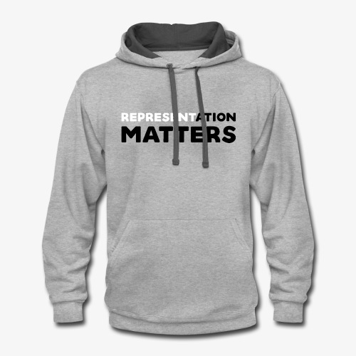 Representation Matters - White - Contrast Hoodie