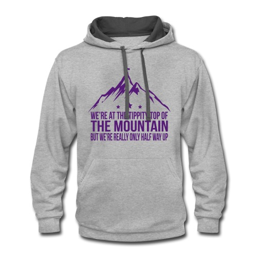 Tippity top of the mountain Purple - Contrast Hoodie
