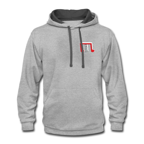 Red White TP M - Contrast Hoodie