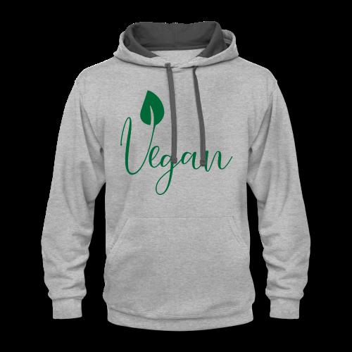 Vegan - Contrast Hoodie