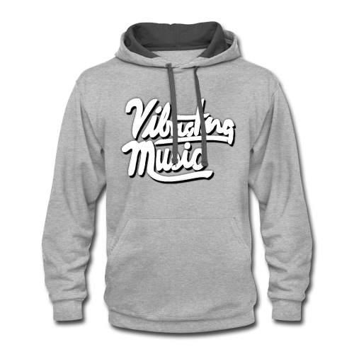 Vibrating Music Text - Contrast Hoodie