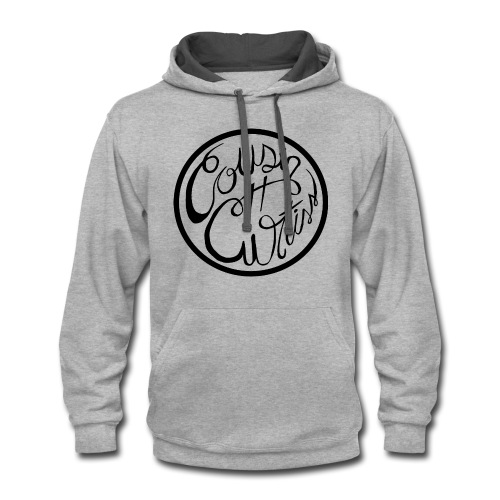 Cousin Curtiss Black Logo Merch - Contrast Hoodie