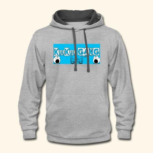 kuukuu gang blue - Contrast Hoodie