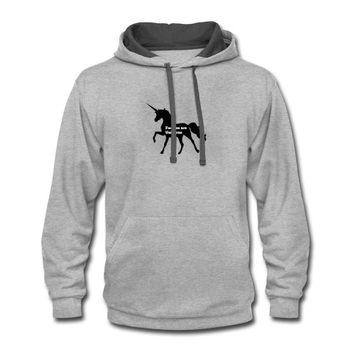 Foodies Are Unicorns - Contrast Hoodie