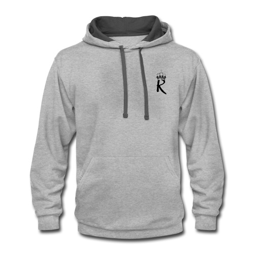 R with Crown - Contrast Hoodie