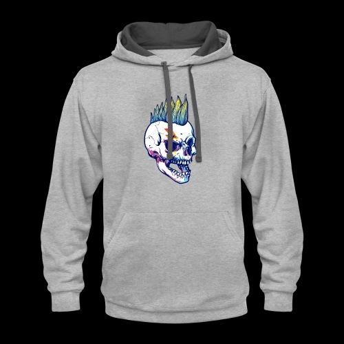 calavera cresta - Contrast Hoodie