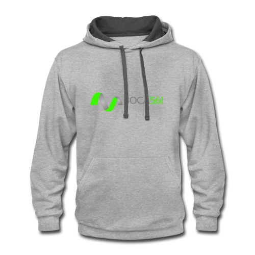 Ribbon of Fitness by BOCA561 - Contrast Hoodie