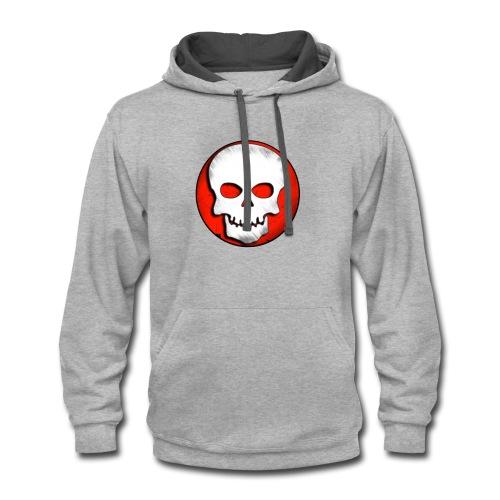 Skull Zone Logo - Contrast Hoodie