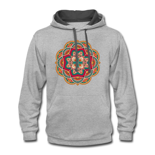 Yoga Mandala Design Shirt & Accessories - Contrast Hoodie