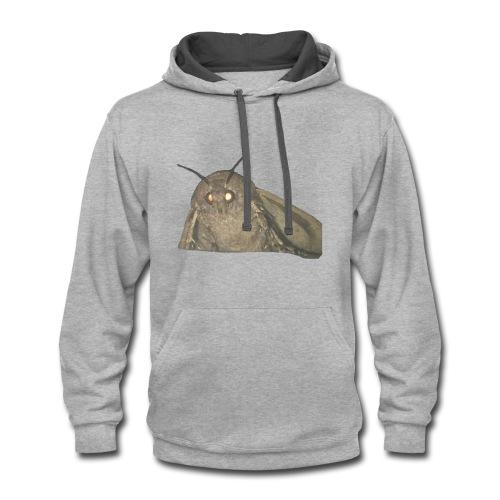 moth meme - Contrast Hoodie