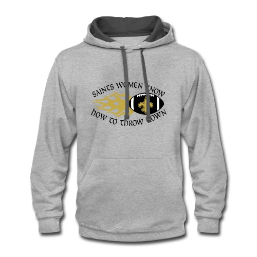Saints Women Throwdown Light - Contrast Hoodie