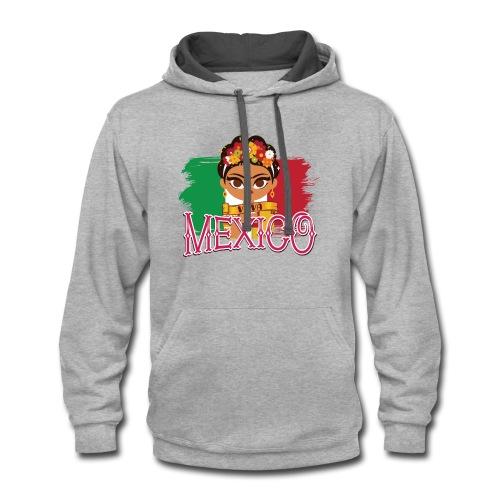 Frida Viva Mexico - Contrast Hoodie