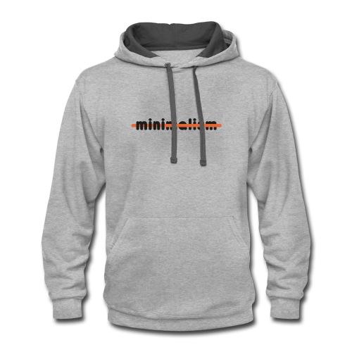 minimalism - Contrast Hoodie