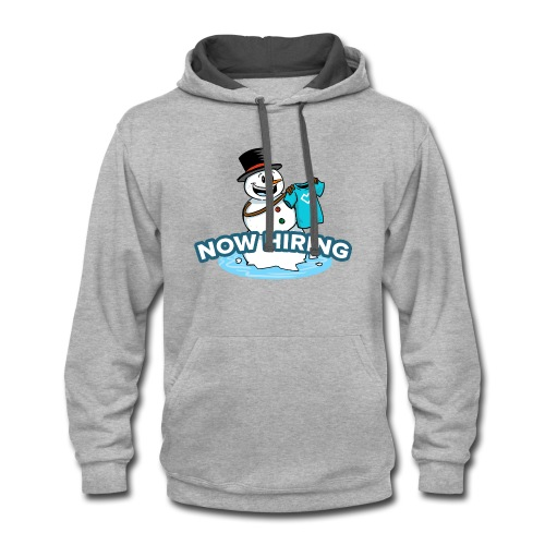 Snow Man Job Fair - Contrast Hoodie