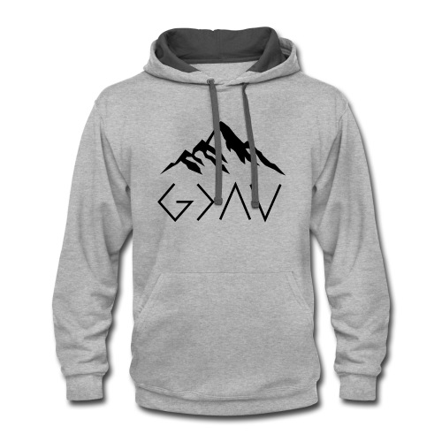 God Is Greater Than The Highs And Lows - Contrast Hoodie
