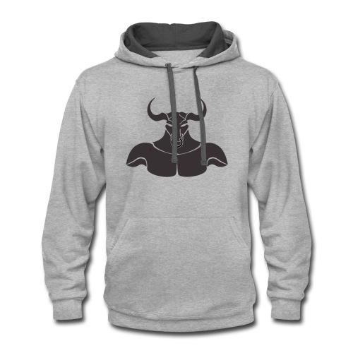 Grey Minotaur - Contrast Hoodie
