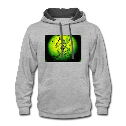 Music is Life-green - Contrast Hoodie