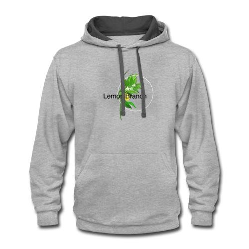Lemon Branch - Contrast Hoodie