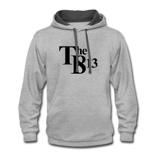 TBisthe813 BLACK - Contrast Hoodie