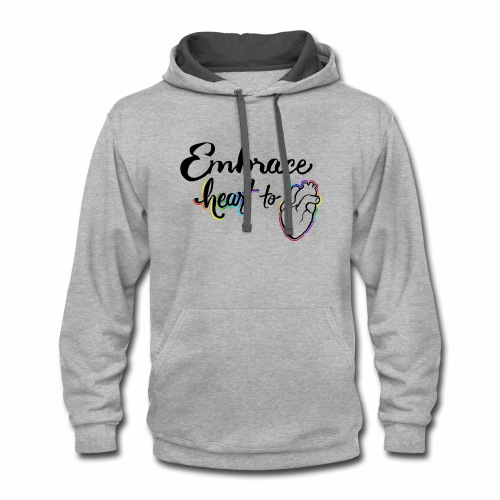 Embrace Heart to Heart - Contrast Hoodie
