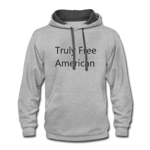 Truly Free American design1 - Contrast Hoodie