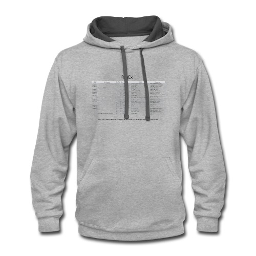 Regular Expression everywhere - Contrast Hoodie