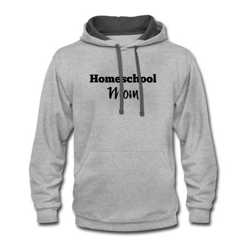 Homeschool Mom - Contrast Hoodie