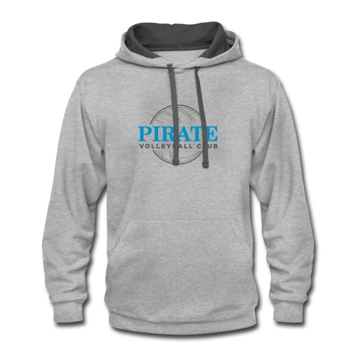 Pirate Volleyball Club Logo - Contrast Hoodie