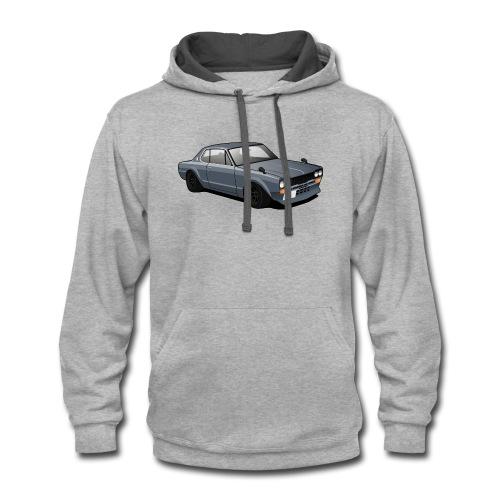 Retro Car - Contrast Hoodie