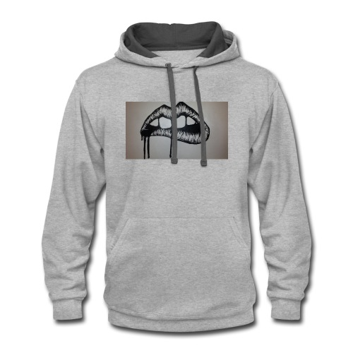 sexy lips - Contrast Hoodie