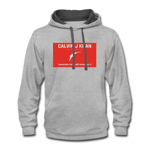 calvin logo 12 - Contrast Hoodie