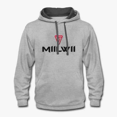 Miilwii logo black - Contrast Hoodie