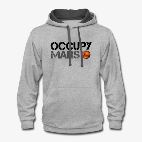 Occupy Mars - Space Planet - SpaceX - Contrast Hoodie