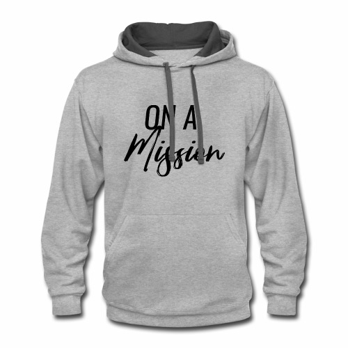 On A Mission Logo - Contrast Hoodie